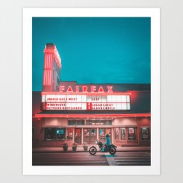 Fairfax red Art Print