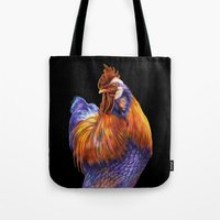 rooster Tote Bags featuring Rooster by Tim Jeffs Art