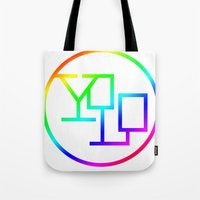 yolo Tote Bags featuring Yolo  by Office Party