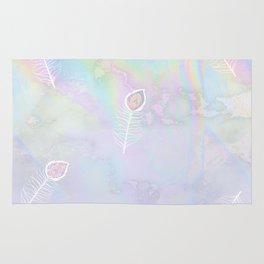 Holographic feather Rug