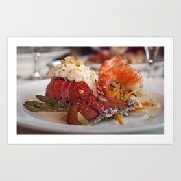 Lobster dinner Art Print