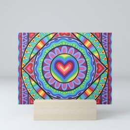 True Love Mandala Mini Art Print