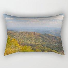 Yellow Trees in an Autumn Landscape Rectangular Pillow