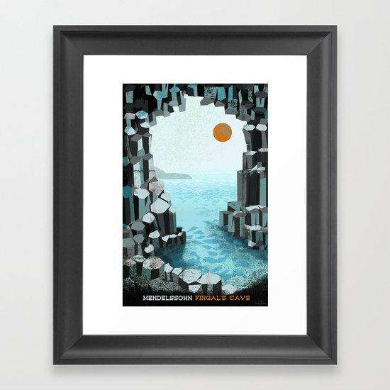 Fingal's Cave Overture - Hebrides - Mendelssohn Framed Art Print