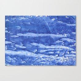 Steel blue vague watercolor painting Canvas Print