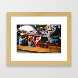 Thailand Floating Market Framed Art Print