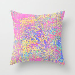 pink brownie Throw Pillow