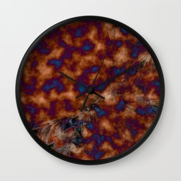 Brown vibration Wall Clock