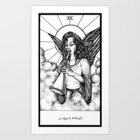 tarot Art Prints featuring Judgement Tarot by Corinne Elyse
