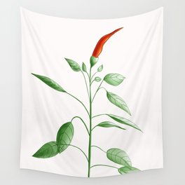 Little Hot Chili Pepper Plant Wall Tapestry
