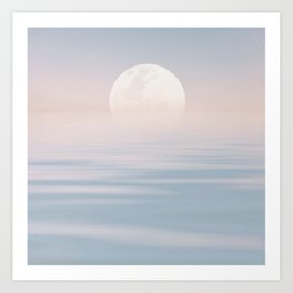 Moon Over Calm Waters Art Print