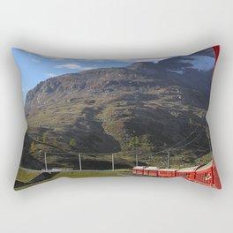 View from the Bernina Express Rectangular Pillow