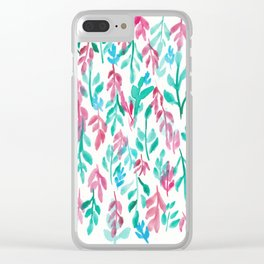 180726 Abstract Leaves Botanical 14 Botanical Illustrations Clear iPhone Case