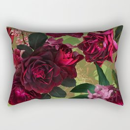 Vintage & Shabby Chic - Botanical Roses Summer Garden   Rectangular Pillow