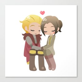 Dragon Age - Cullen and Inquisitor [Commission] Canvas Print