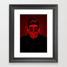 the 4i Red Skull Punk Framed Art Print