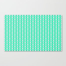 Turquoise Gemstone with Silver Accents Pattern Canvas Print