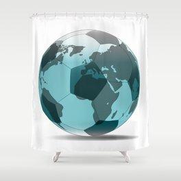 Football World Globe Shower Curtain