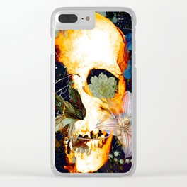 The Merry Skull Clear iPhone Case