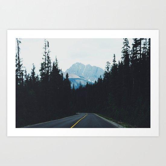 Canadian Road Art Print