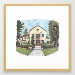 Davis Community Church Framed Art Print