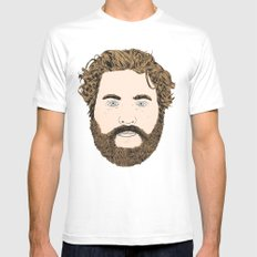 Zach Galifianakis White X-LARGE Mens Fitted Tee
