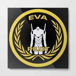 Evangelion Pilot Logo Metal Print