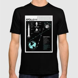 Apollo 11 Mission Diagram T-shirt