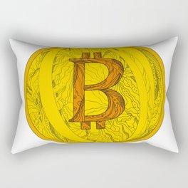 Bitcoin Doodle Art Rectangular Pillow