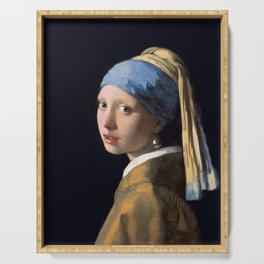 Johannes Vermeer - Girl with a Pearl Earring Serving Tray