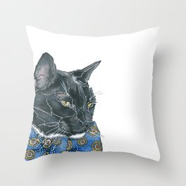 Dapper Max the Tuxedo Cat Throw Pillow