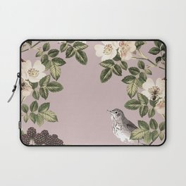 Birds and the Bees Pink Berry Laptop Sleeve
