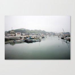 Japanese Fishing Village on Naoshima Canvas Print