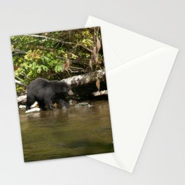 The Salmon Whisperer - A Hunting Black Bear Stationery Cards