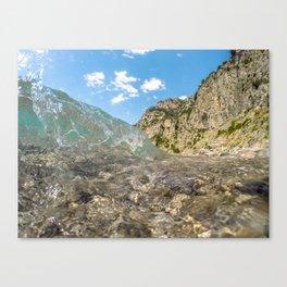 Clear as Ice Canvas Print