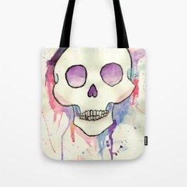 Watercolor Skull by Presley Wells Tote Bag