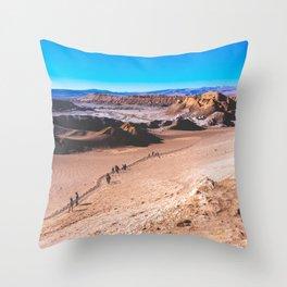 Valle de la Luna (Moon Valley) in San Pedro de Atacama, Chile 3 Throw Pillow
