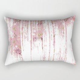 Vintage chic pink white red boho floral brushstroke pattern Rectangular Pillow