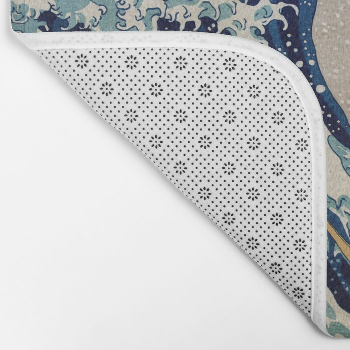 Under the Great Wave by Hokusai Bath Mat