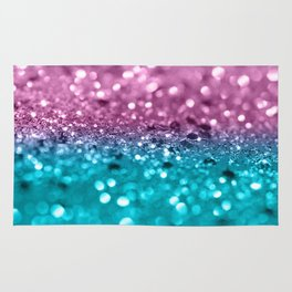Tropical Beach Lady Glitter #7 #shiny #decor #art #society6 Rug