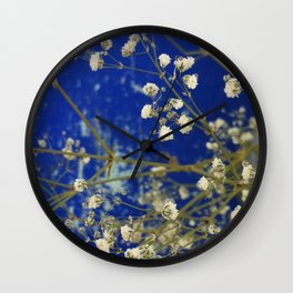 Winter Blossom Wall Clock