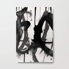 Ink Rain Metal Print