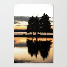 Evening Walk in the Park Canvas Print