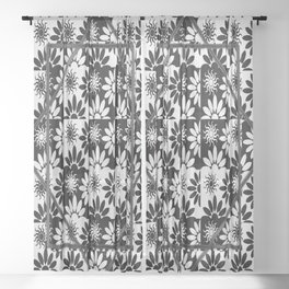 Tessellation Framed Sheer Curtain