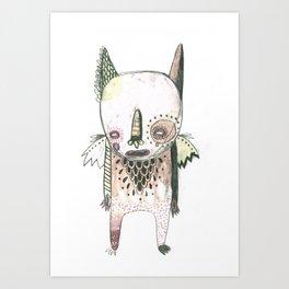 Random Monster Drawing 01 Art Print