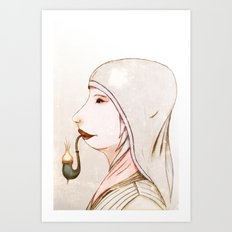 Mrs Pipe Art Print