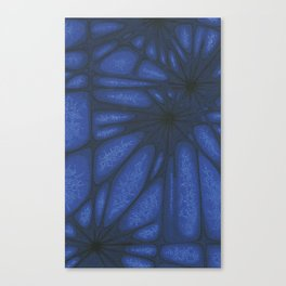 Stained Glass Web Canvas Print