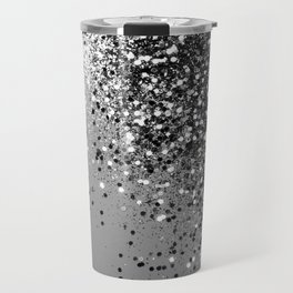 Sparkling Silver Gray Lady Glitter #1 #shiny #decor #art #society6 Travel Mug