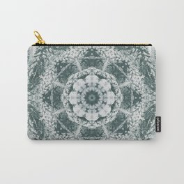 Winter snowy spruce forest mandala Carry-All Pouch