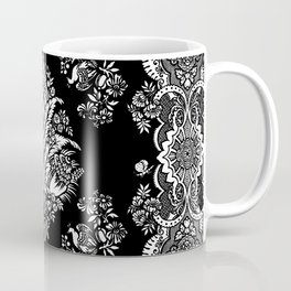 Victorian black and white floral Coffee Mug